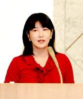 運の良さなどについて考えを述べた中野信子さん=10日、福井市のユアーズホテルフクイ