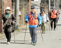 【ミラカナ】歩いて勝山元気に 来月ノルディックウオーク 地元NPO 開催資金募る