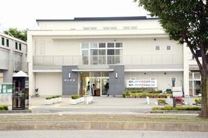 近くでシカが目撃された福井市旭公民館=10月4日、福井県福井市手寄2丁目
