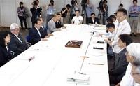 知事、市町長と協議 県6月補正予算案編成へ