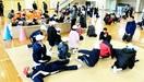 冬場の地震 寒さに備え 坂井・三国南小で避難訓練