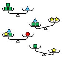 【3分チャレンジ】 出題・北村良子(イーソフィア) ■てんびんパズル