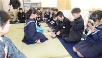 和の心 茶道に学ぶ 坂井・加戸小児童 体験 礼儀作法と合わせて