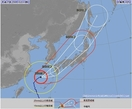 台風18号、大荒れや大しけの恐れ