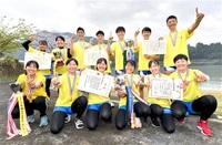 県勢4クルー 全国高校選抜ボート V 男女かじ付きクオド 女子ダブルスカル 女子シングルスカル