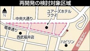 福井駅西口再開発の検討対象区域
