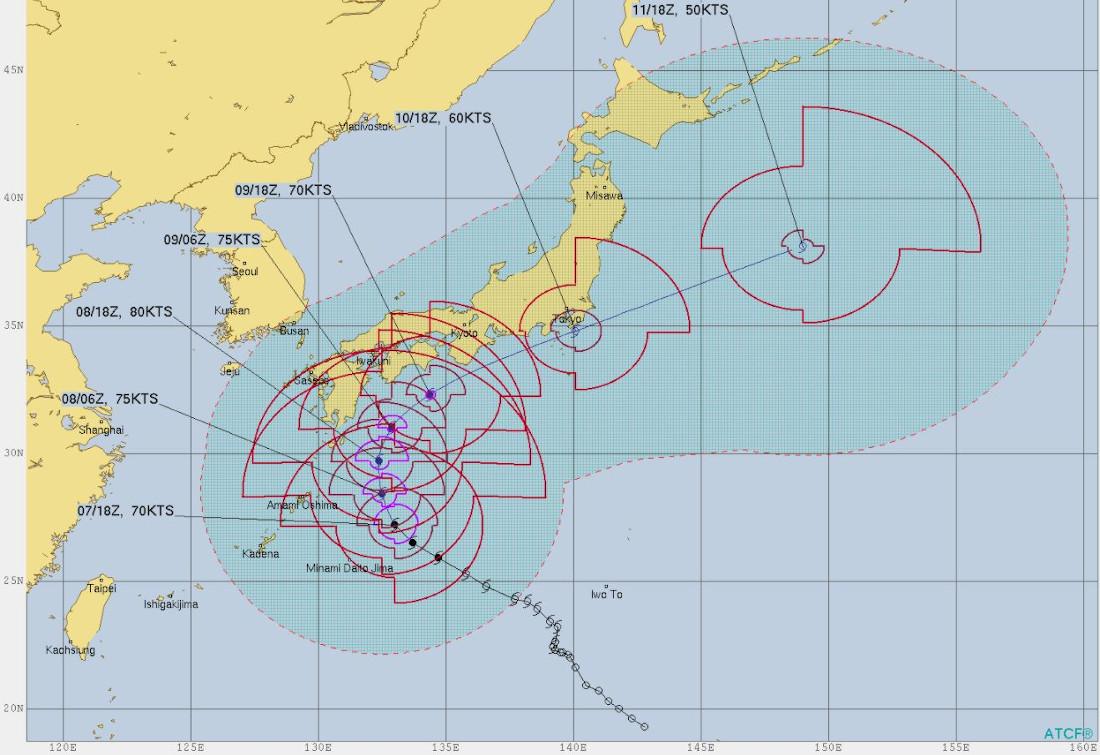 米 軍 台風 進路 予想 図