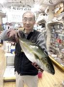 竹田川で101センチのスズキ
