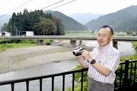 足羽川氾濫、福井豪雨をビデオ撮影