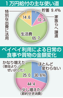 1万円給付の主な使い道の独自調査結果