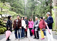 台湾に建立 平和祈念碑縁に来日 RC 永平寺で友好深め 高雄東南、福井西と