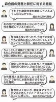 森喜朗会長の発言と辞任に対する意見