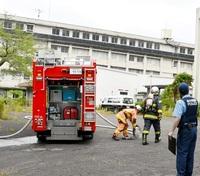 休校状態の昭英高体育館の一部焼く 敦賀、けが人なし