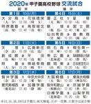 甲子園高校野球交流試合の組み合わせと結果一覧