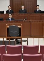 植松聖被告に判決が言い渡される横浜地裁の法廷=3月16日午後(代表撮影)