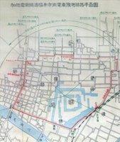 幻に終わった「福井市街地電車線計画」の概略図