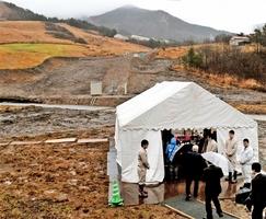 完成式典が行われた六呂師高原スキーパーク=23日、福井県大野市南六呂師
