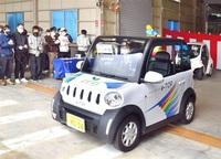 公道走行実験へ超小型車が出発 越前市のTOP