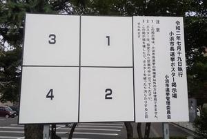 小浜市長選挙のポスター掲示板=福井県小浜市内