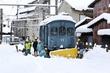 除雪車脱線、福鉄最古の電気機関車