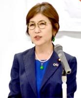 憲法改正の必要性を説く稲田朋美氏=6月1日、福井県福井市のアオッサ