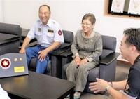 大臣表彰安部さん町長に喜びを報告 永平寺町