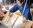 芸術支える伝統工芸 越前和紙の紙すき (越前市)