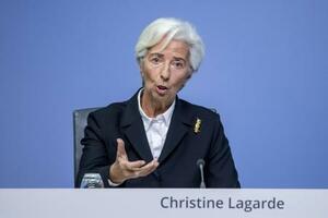 欧州中央銀行(ECB)のラガルド総裁=23日、ドイツ・フランクフルト(ゲッティ=共同)