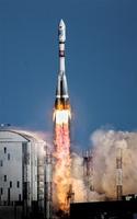 県民衛星が搭載される予定のソユーズロケット(GK Launch Services提供)