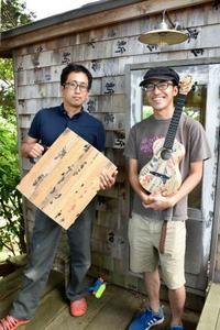 「北ものがたり」サケの木箱、雑貨や楽器に