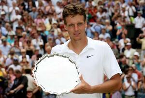 2010年のウィンブルドン選手権で準優勝したトマーシュ・ベルディハ=ロンドン(ロイター=共同)
