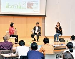「ミラカナ」でプロジェクトを成立させた実行者が秘訣を語ったセミナー=6月4日、福井県福井市の福井新聞社・風の森ホール