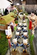 鯖江の文化遺産見てニャ ジオラマ、ネコ人形で再現…