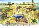 恐竜生きた世界を実物大で再現