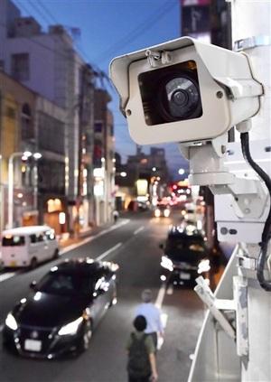 繁華街防犯カメラ、25事件映像提供