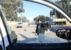 中村哲さんが襲撃された現場=4日、アフガニスタン東部ジャララバード(ロイター=共同)