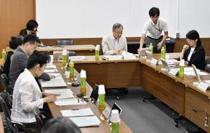 京都大のiPS血小板治療の臨床研究計画が審査される厚労省の専門部会=29日午後、東京都港区