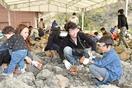 家族で化石発掘体験、福井・勝山