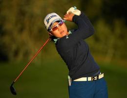女子ゴルフのエビアン選手権、プロアマ戦で最終調整する畑岡奈紗=12日、エビアン(ゲッティ=共同)