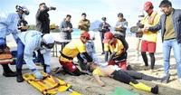 水難事故の対応確認 県内外ライフセーバー審査会 高浜