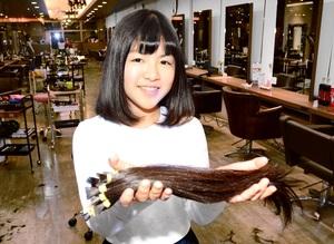 小6少女が医療用かつらに髪提供