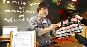 手荷物一時預かりサービスを始めた飲食店「Vesta(ベスタ)」=1月22日、福井県福井市中央1丁目