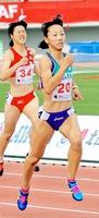 陸上少年女子A400メートルで準優勝した島田雪菜=10日、岩手県北上市の北上総合運動公園陸上競技場