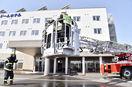 鯖江の新規ホテルで消防訓練