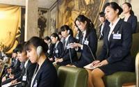高校生平和演説に中国圧力