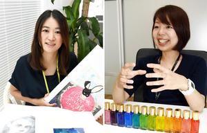 副業制度を使っている女性社員=福井県福井市栂野町のオールコネクト
