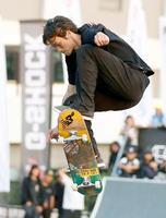 都市型スポーツの国際大会「FISE」のスケートボード・ストリートで優勝した佐川涼=広島市