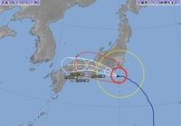 台風12号、雨量200ミリ予想も