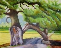 五十嵐さん(あわら)油彩画で現展入選 坂井の大舎さん出品