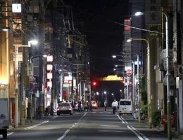 福井県を代表する繁華街、通称「片町」のメイン通り=5月19日午後9時20分ごろ、福井市順化1丁目